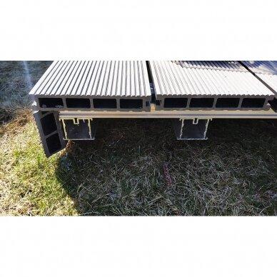 Aliumininė lagių sistema terasoms 38x45x3000 mm 3