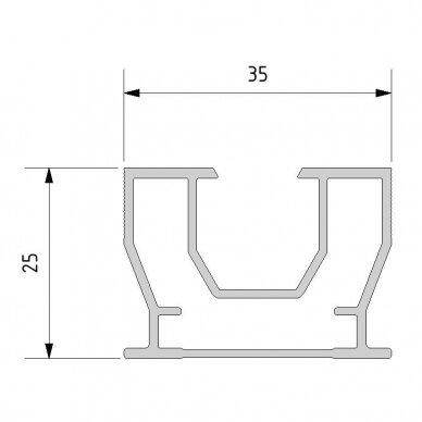 Aliuminio sija 25x35x4000 mm