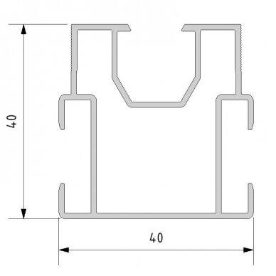 Aliuminio sija 40x40x4000 mm