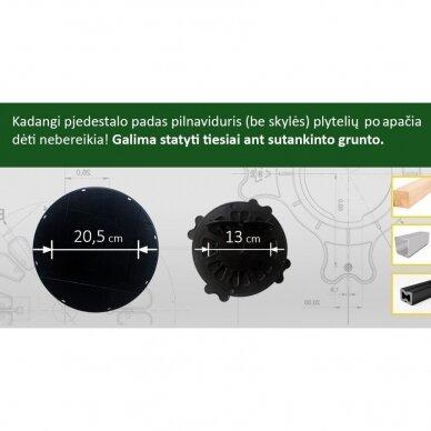Reguliuojamas pjedestalas 70 mm - 120 mm 3