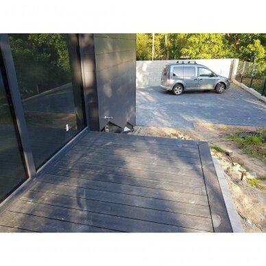 WPC terasinė lenta ART1 | Pilka 1m. 5