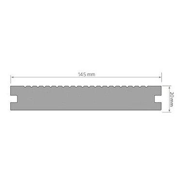 WPC terasinė lenta ART3   Pilka 1m. 5