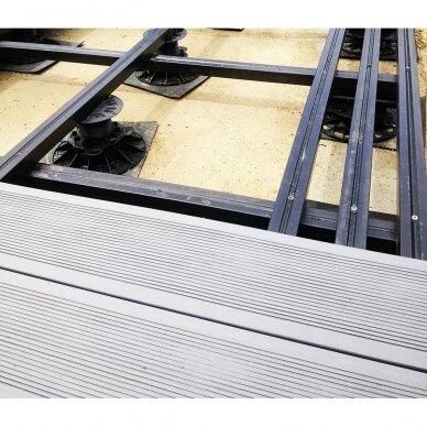 WPC terasinė lenta ART3   Pilka 1m. 2