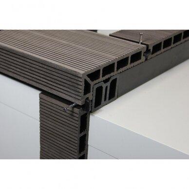 WPC terasinė lenta ART5 su kampu | Ruda 4m. 5